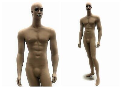 African American Realistic Adult Male Fiberglass Full Body Mannequin With Base