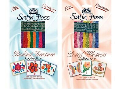 DMC Satin Embroidery Floss Pack - Radiant Treasures, Pastel Whispers
