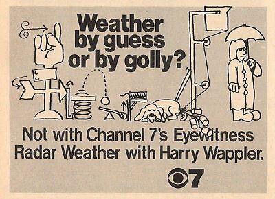 1972 Kiro Seattle Tv Ad Harry Wappler Eyewitness Radar Weather Channel 7