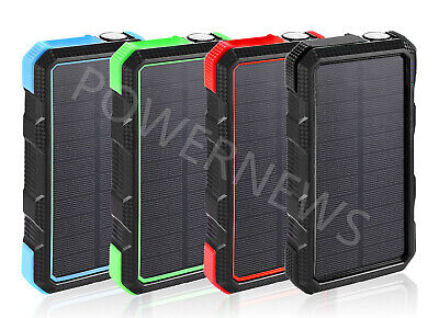 900000mAh Solar Quick Charge QC 3.0 External Batteries Pack Portable Charger -
