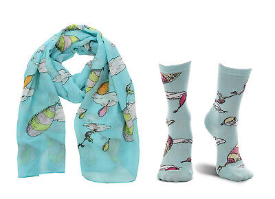 elope Dr. Seuss Oh the Places You'll Go! Crew Socks and Scarf Kit Bundle](Dr Seuss Scarf)