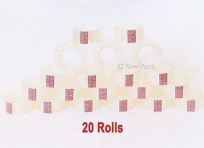 20 Rolls Crystal Clear Transparent Tape Dispenser Refills 34 X 1000 Wholesale