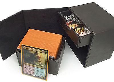 Deck Commander Locker LT Dark Brown Box  Huge 100 Sleeved MTG Card Capacity
