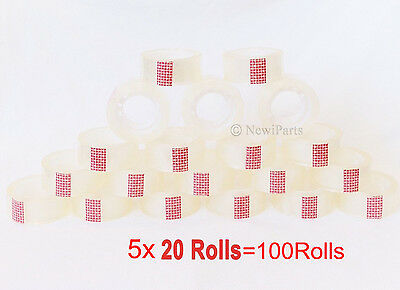 100 Roll Crystal Clear Transparent Tape Dispenser Refills 34 X 1000 Wholesale