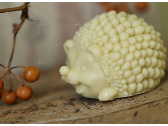 Soap Mold 3D Animal Hedgehog Silicone Soap Making