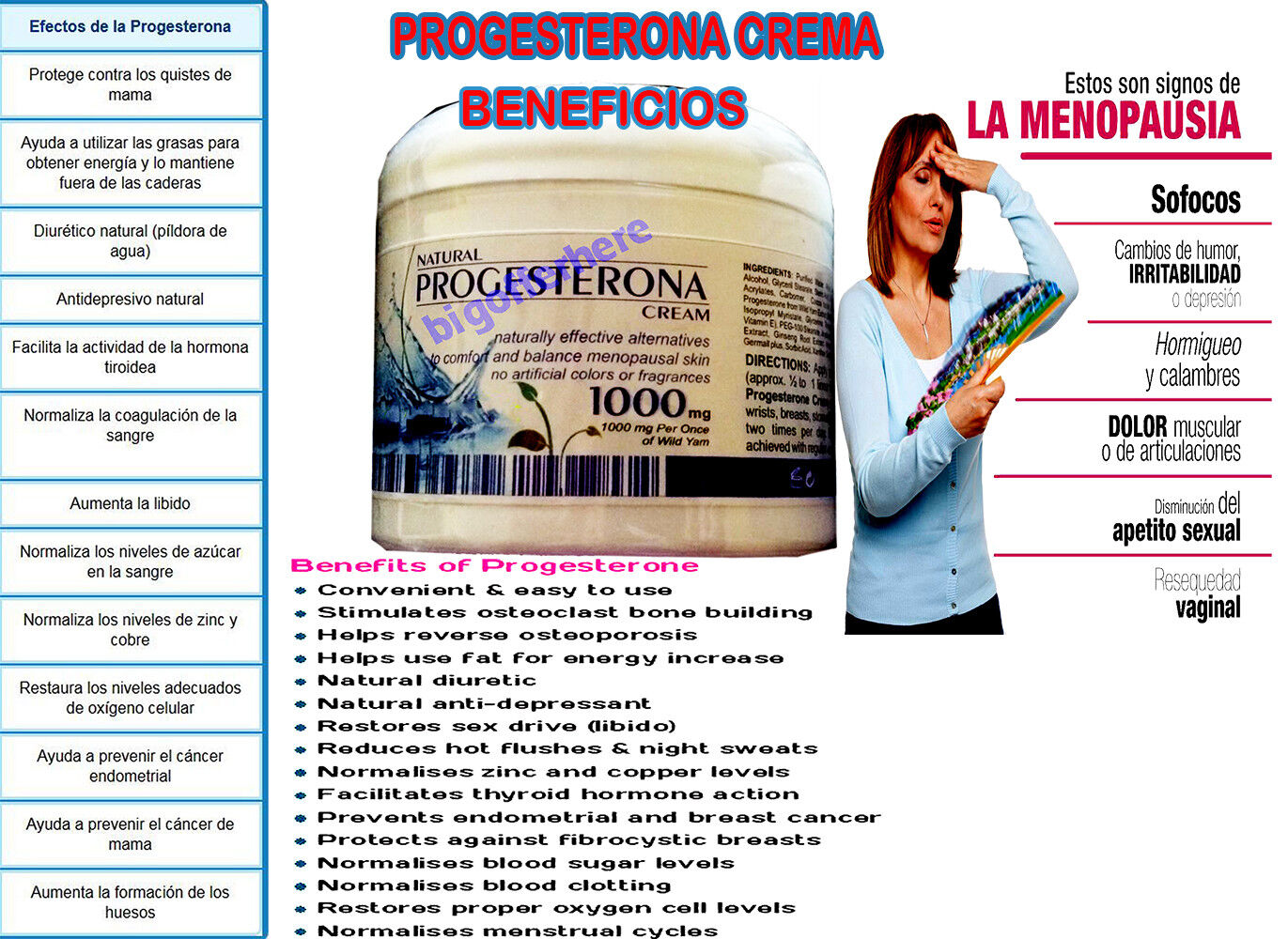 Natural Progesterone 1000mg Cream Xtra strength USP certific