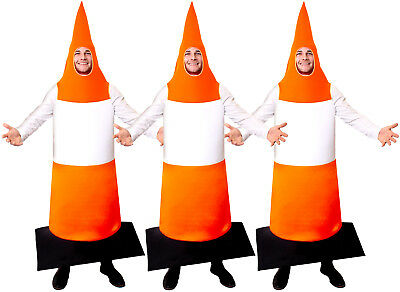 PACK OF ROAD CONE FANCY DRESS TRAFFIC CONE COSTUME STAG NIGHT ADULT FUNNY OUTFIT](Road Cone Halloween Costume)