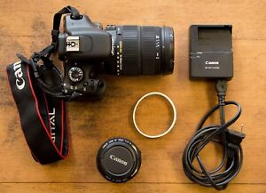 18 MP Canon DSLR, Two Amazing Lenses, SD card and Lowepro bag