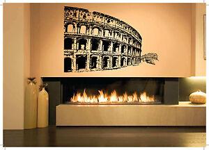 Wall room decor art vinyl sticker mural decal coliseum - Stickers cinema mural ...