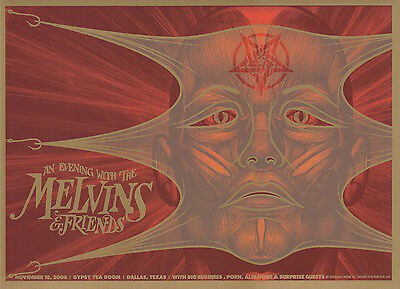 MINT Melvins 2006 Gypsy Room Dallas Todd Slater Poster 59/200