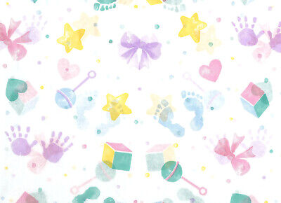 Adorable Soft Pastel Baby Print Tissue Paper # 567 ~ 10 Sheets ~ 20