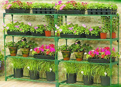 2pcs Greenhouse Staging Shed Garage Storage Steel Shelving Shelves Racking Unit for sale  Bathgate