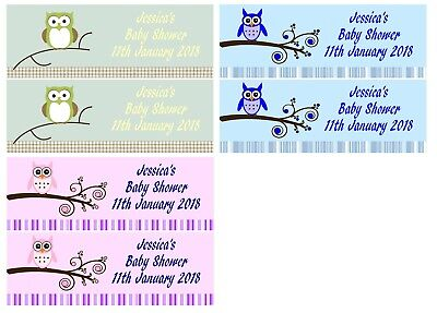 personalisiert Babyparty Eulen Banner Junge Mädchen Unisex - 2er Pack groß 1FT X