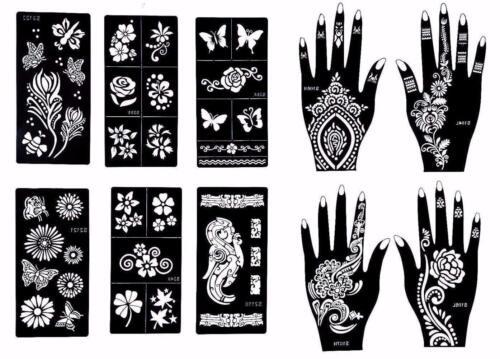 Reusable Stencils for Henna Tattoo (10 Sheets)  Body Art Temporary Tattoo