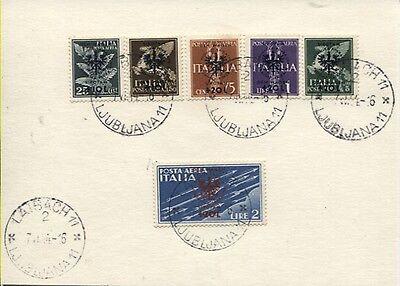 Besetzung 2. Weltkrieg Laibach 33-38 gestempelt auf Briefstück (B06499)