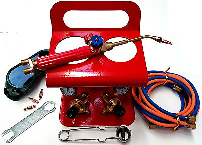 PORTABLE OXY SET KIT INCLUDING 3 X HEADS 1 X HOSE SET 1 X STAND TORCH GUN & ACCS Stand Accs Kit