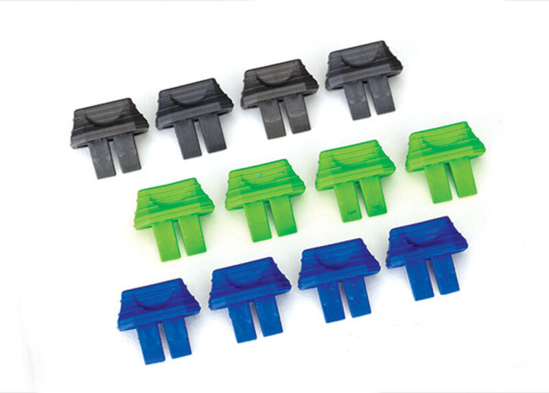 Traxxas 2943 - Battery Charge Indicator Plugs, Green, Blue, Gray