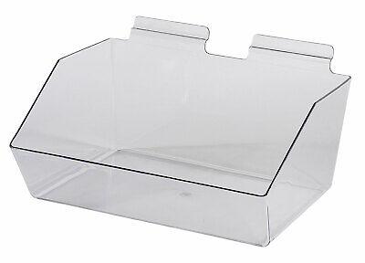 12 X 5 X 9 Inch Clear Plastic Dump Bin - For Slatwall - Set Of 2
