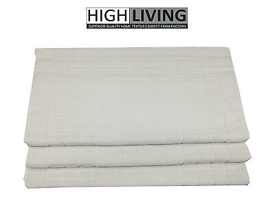 Bath Mat Bathroom Rug 100% Cotton Soft Toilet Washable White 1000 gsm Luxury Mat