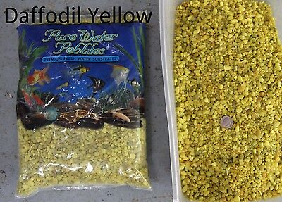 Daffodil Yellow - 5 lbs Aquarium Fish Tank Gravel, Pure Water Pebbles color rock