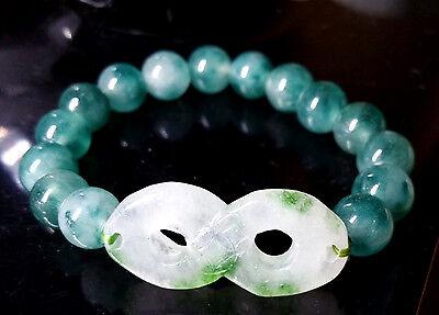 Feng Shui  Handmade Jade lucky 8 bracelet amulet for wealth luck