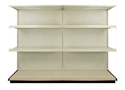 Lozier Heavy Duty Commercial Retail Shelving- 8 Foot Standing Rack Shelf Section