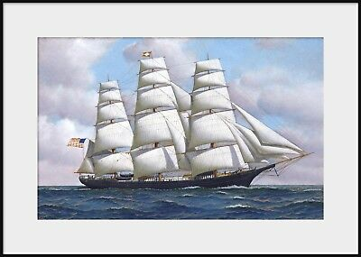 - ANTONIO JACOBSEN, FLYING CLOUD, Clipper Ship Painting NEW Fine Art Giclee Print