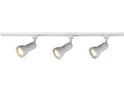 White 3-Light Medium Step Linear Track Lighting Kit End Feed With Cord And Plug