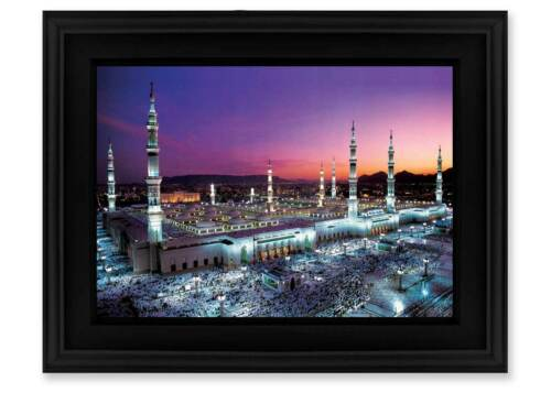 Frame: The Prophets Mosque, Medina. -8x6 -Islamic Art/Decor/Gift -Fathers Day
