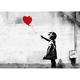 Banksy Red Love Balloon Girl street art on Canvas ACEO giclee Print graffiti