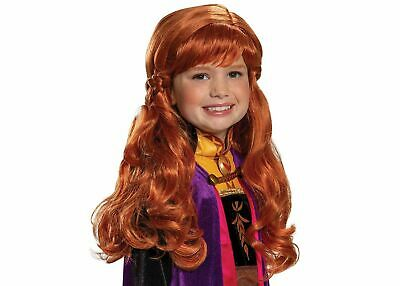 NEW DISNEY Princess FROZEN 2 ANNA costume Wig Child Girl play hair Disguise