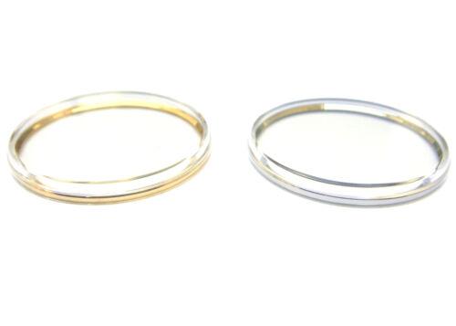 Flat Top Plexi Plastic Watch Crystal w/ Tension Ring