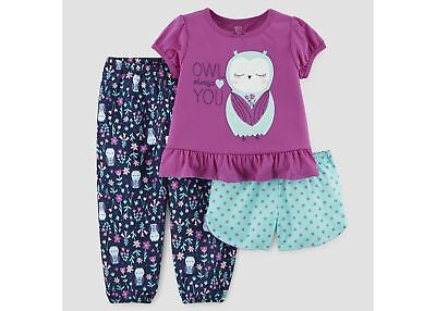 Carter's Just One You Girls Owl   Always Love You 3 Piece Pajamas 12M-5T  NWT - Owl Always Love You