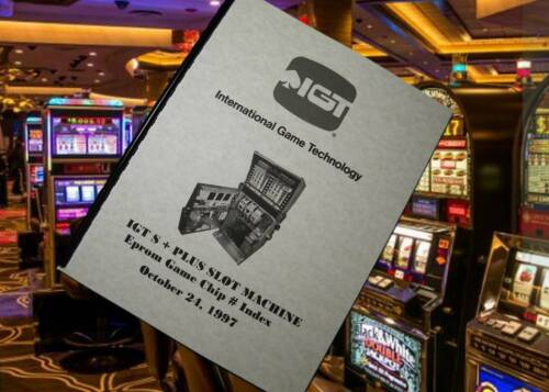 IGT S + PLUS SLOT MACHINE Eprom GAME CHIP # Index SS Manual 1997