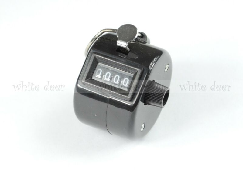4 Digit Number Dual Clicker Golf Hand Tally Counter Black Handy Convenient