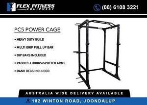 NEW Power Cage - Heavy Duty with Multi Grip Pull Up Bar and More