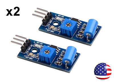 2 Sw-420 Motion Sensor Vibration Switch Module For Arduino And Alarms 2pcs