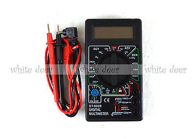 Dt 830b Lcd Voltmeter Ammeter Ohm Digital Multimeter Battery Leads Electric