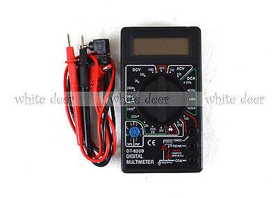 Dt 830b Lcd Voltmeter Ammeter Ohm Digital Multimeter Battery Leads Electric