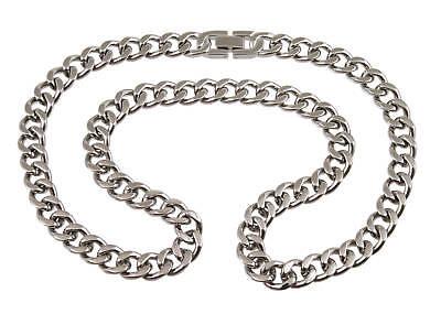 Titanium Heren Ketting 55cm halsketting schakel link chain tweedehands  verschepen naar Netherlands