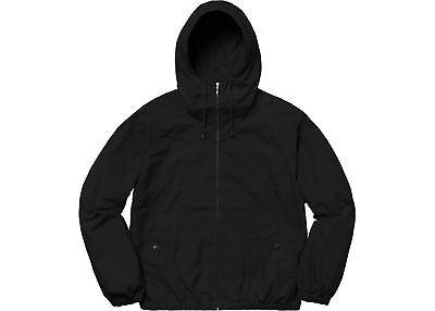 - SUPREME Cotton Hooded Raglan Jacket Black M box logo camp cap tnf S/S 18