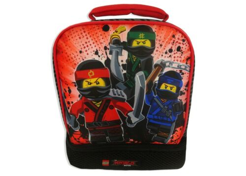 New Lego Ninjago Movie Dual Compartment Soft Lunch Box Bag