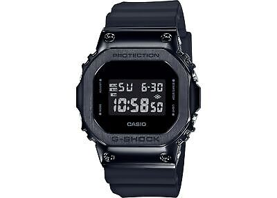 New Casio G-Shock Black PVD Stainless Steel Case Resin Strap Watch GM5600B-1