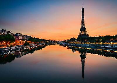 Sunrise at the Eiffel tower paris party decors backdrop for photo studio props - Photo Decorations For Parties