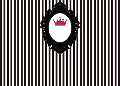 Mirror Crown Photography Background Black and White Stripe Photo Backdrop Decors](Black And White Striped Backdrop)