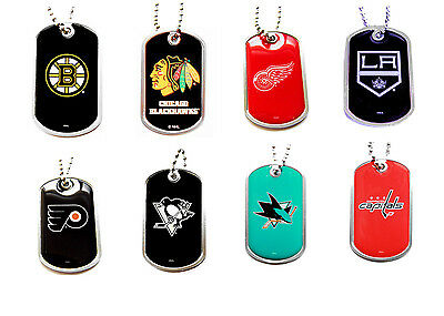 dog tag necklace NHL PICK YOUR TEAM not a cheap gumball machine tag - Cheap Gumball Machine