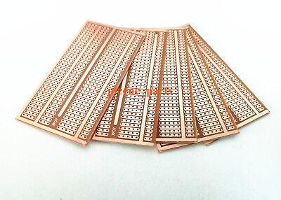 10 Pcs 5x 9cm Pcb Prototype Breadboard Perf Universal Board Diy High Quality