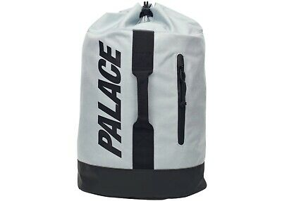Palace Skateboards Strap Sack Backpack Gray Black Logo Knapsack