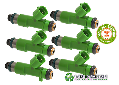 6pcs OEM Fuel Injector 550cc For Denso Infiniti G37 Nissan GT-R 16600-JK20A