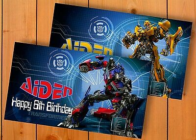 Transformers Birthday Banner (Transformers Birthday Banner Personalized Custom Design Indoor Outdoor)